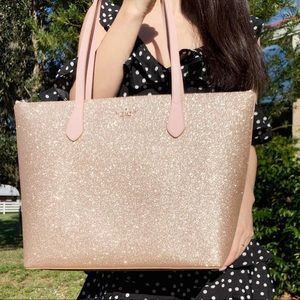 GabysBags👜💕-Kate Spade Rose Gold Glitter Tote